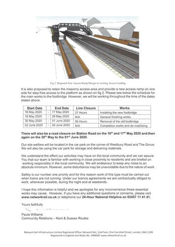 - Network Rail Update